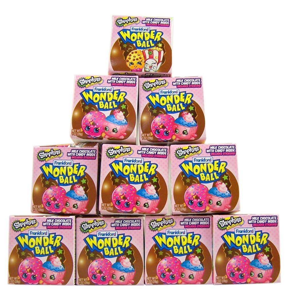 Amazon.com : Shopkins Surprise Egg Chocolate Wonderball Candy and ...