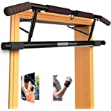 AmazeFan Pull Up Bar Doorway with Ergonomic Grip - Fitness Chin-Up Frame for Home Gym Exercise - 2 Professional Quality Wrist