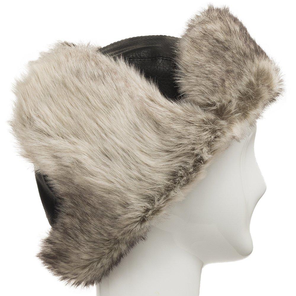 4156b8a1b4005 Amazon.com  Ultrafino Ushanka Trooper Russian Pilot Aviator Leather Winter  Trapper Hat SIZES  Clothing