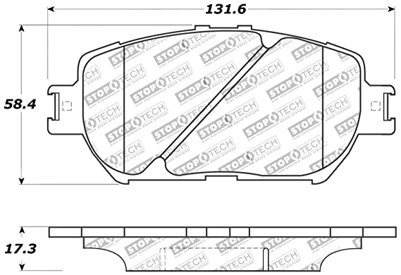 Disc Brake Pad Set-Sport Brake Pads Front Stoptech 309.09080