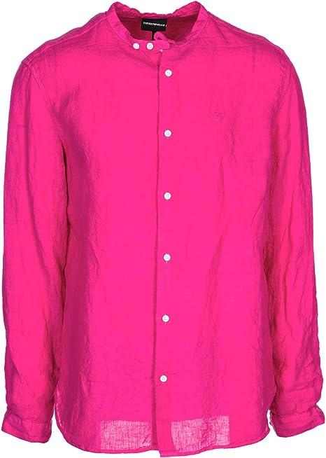 Emporio Armani Camisa Hombre Fucsia L: Amazon.es: Ropa y accesorios