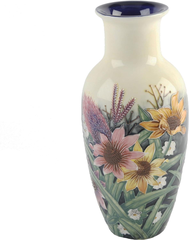 Jarron antiguo de porcelana Flores
