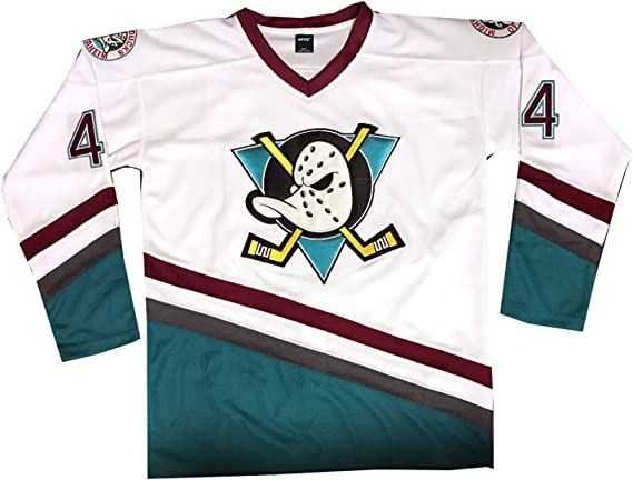 AIFFEE #96 Conway Ducks Hockey Jersey Green Color Men Size