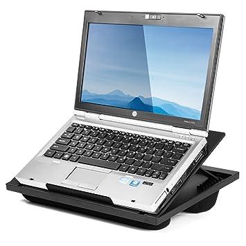 Halter - Soporte de escritorio para ordenador portátil con 8 ángulos ajustables y cojines de apoyo dobles de microperlas: Amazon.es: Electrónica