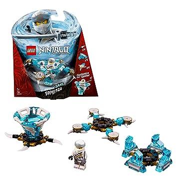 LEGO Ninjago - Spinjitzu Zane, peonza azul y blanca divertida de ninja de juguete (70661)