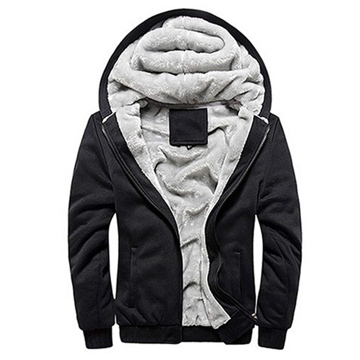 Frozac Winter Down Jacket Outerwear Thick Cotton Coat Casual Hoodies Jacket Outwear Overcoat Zipper Long Sleeve Warm Clothing
