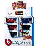 Bburago 00709 - Auto Straniere Street Fire 1:43, [confezione da 1 pezzo], Modelli e colori assortiti