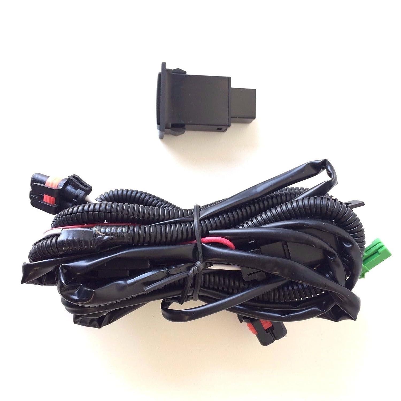 LEDIN 9006 12V 30A Fog Light Wiring Harness Relay Kit ON/OFF Switch on