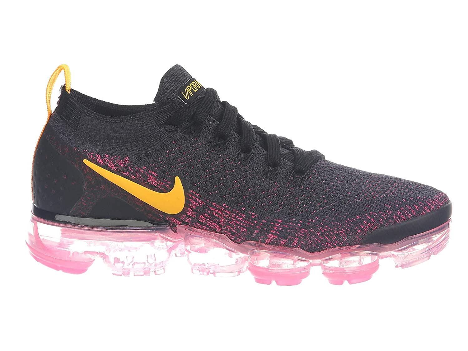 huge discount 8261b 6224e NIKE Women's Air Vapormax Flyknit 2 Running Shoes (8.5, Pink/Black)