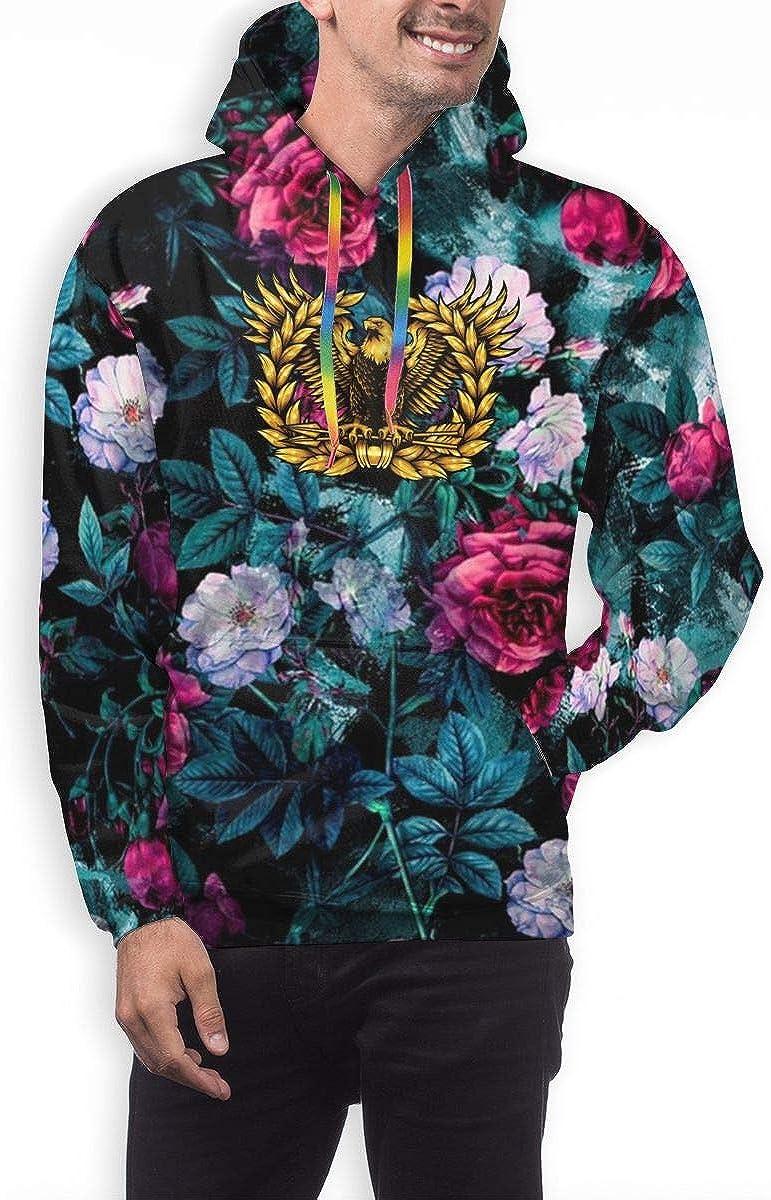Mens Athletic Pullover Cozy Sport Outwear Warrant Officer Rising Eagle Sweatshirt Hoodies