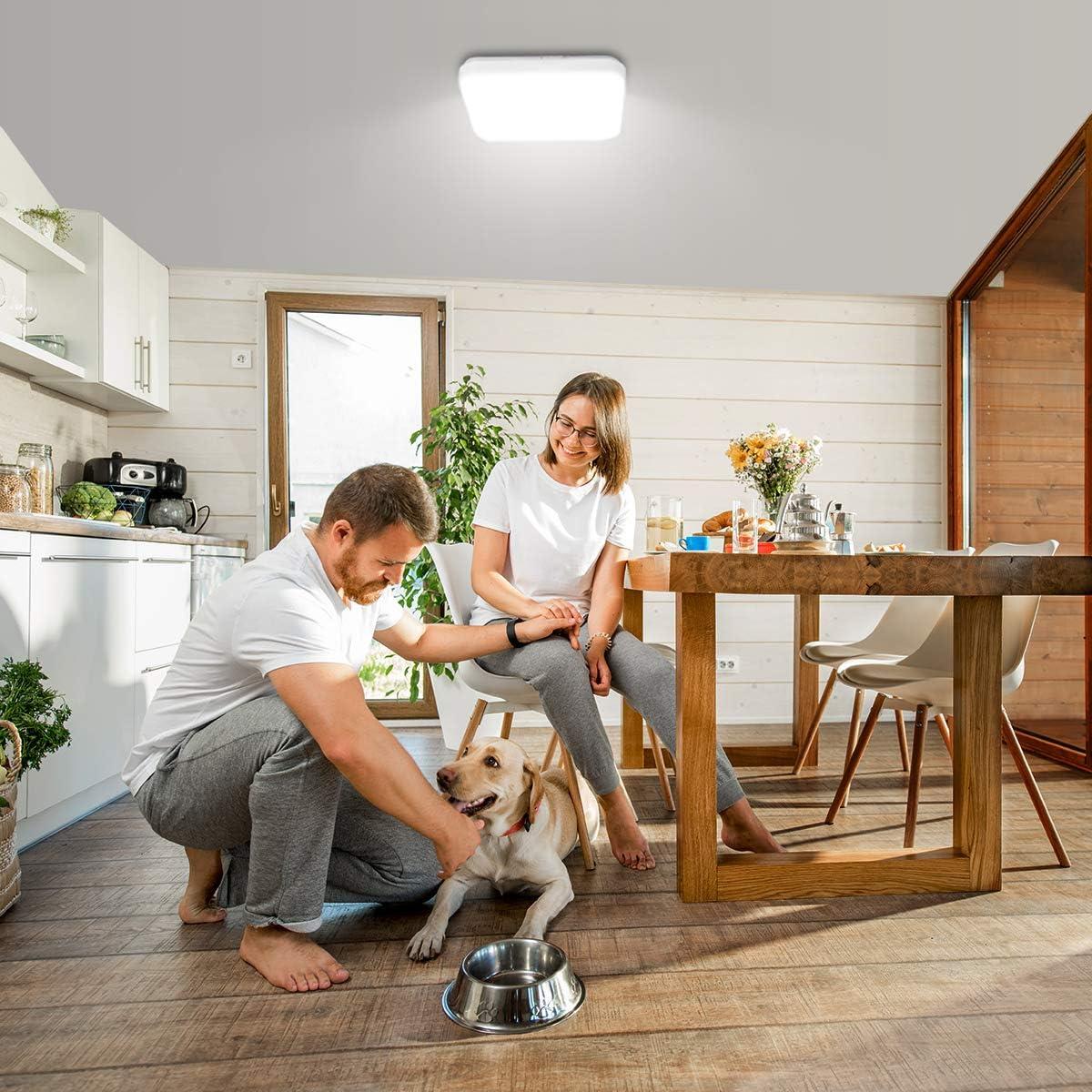 Kaltwei/ß Licht Badezimmerlampe IP20 Badlampe 1600LM /Ø30cm Lampe Ideal f/ür Badezimmer Balkon Flur K/üche Wohnzimmer Schlafzimmer Leuchte Badleuchte LE 22W Deckenlampe 5000K LED Deckenleuchte
