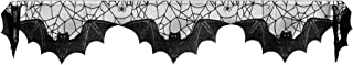 "product image for Heritage Lace Halloween Bats Mantle Scarf , 20"" x 80"", Black Lace, Made in the USA"