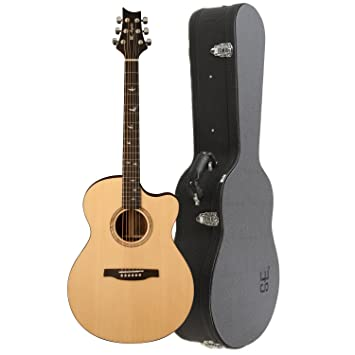 ae92587c1e0 PRS SE Alex Lifeson Thinline Electro Acoustic Guitar (Natural):  Amazon.co.uk: Musical Instruments