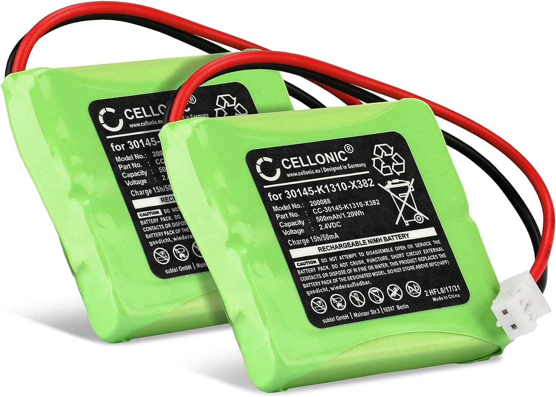 CELLONIC 2X Batería Compatible con Siemens Gigaset E45, E450 SIM, E455 SIM, Compatible con Swisscom Aton CL-102, Top S329 (500mAh) S30852-D1751-X1 bateria de Repuesto, Pila reemplazo, sustitución