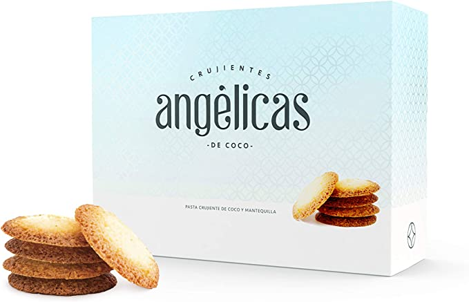 Galleta crujiente de Coco y Mantequilla - Angélicas de Coco- Nazaré Hojaldrería - 33 Unidades 200 gr.: Amazon.es: Alimentación y bebidas