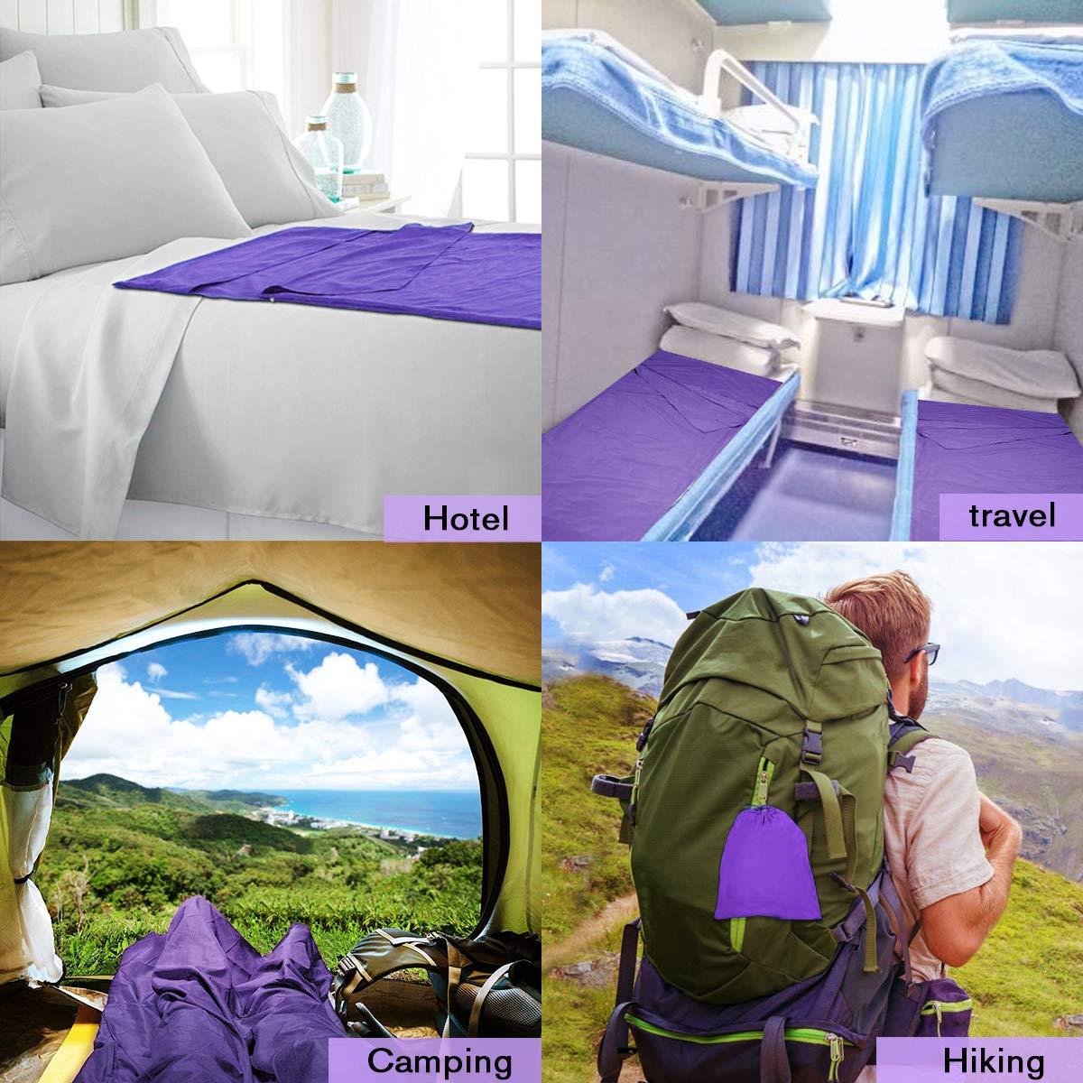 Ni/ños Exterior de Travel Sheet//Camping S/ábanas Interiores Ultraligeros Excursiones Mujeres Alpinismo//Hombres FishOaky Saco de Dormir