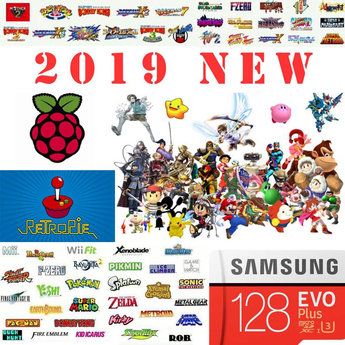 Plus Raspberry Pi Retropie 128GB Preloaded Games MicroSD Card Pi 2 etc Model B Pi 3 Model A+ Works with Pi 3 Model B+ Fast Class 10