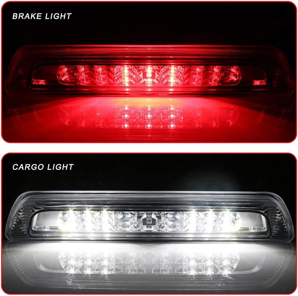 ECCPP LED 3rd High Mount Brake Light Brake Light Cargo Light fit for 2007-2018 Toyota Tundra Clear Lens LED Light