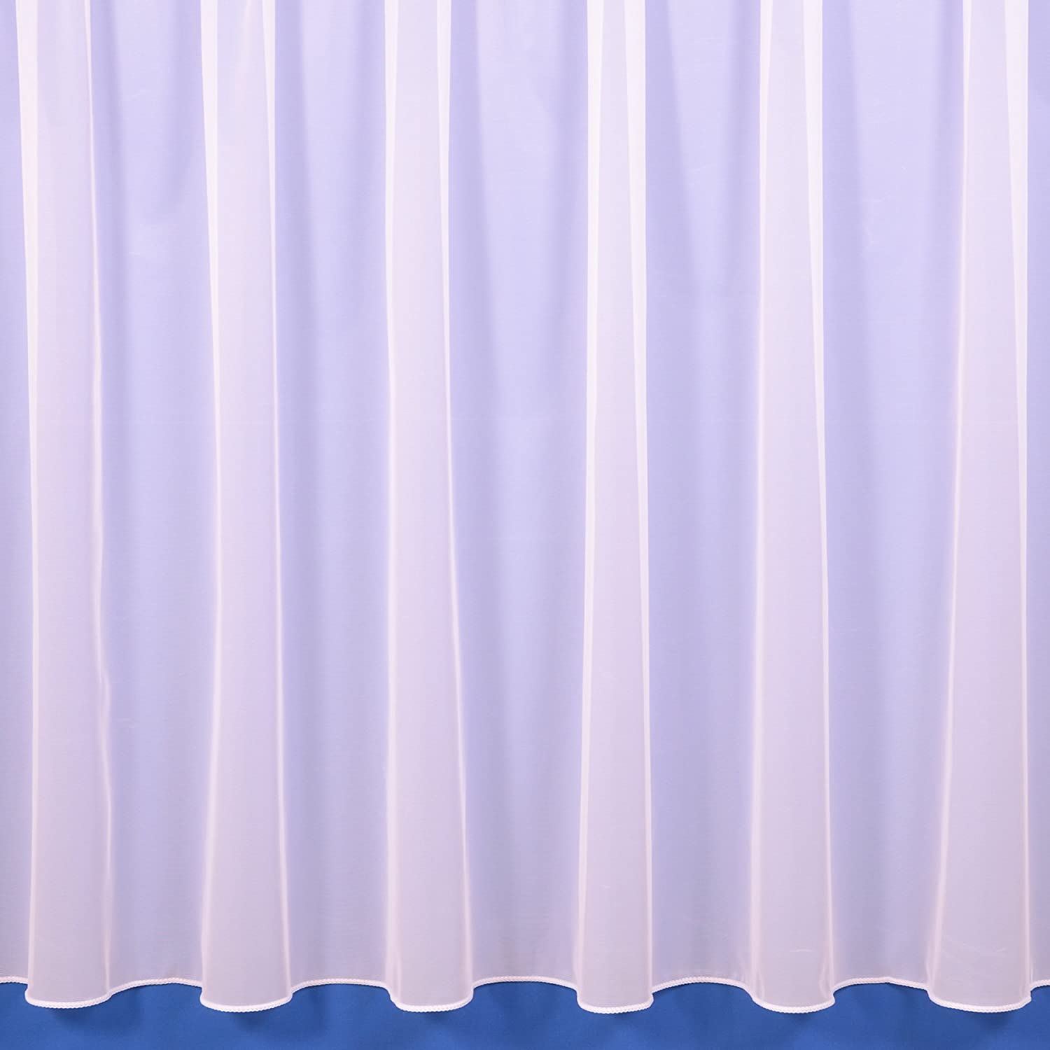"""The Textile House Sue White Plain Lead Weighted Voile Net Curtain - 3.5 Metres Wide x 36"""" (91cm) Drop 3.5 Metres Wide 36"""" Drop (91cm)"""