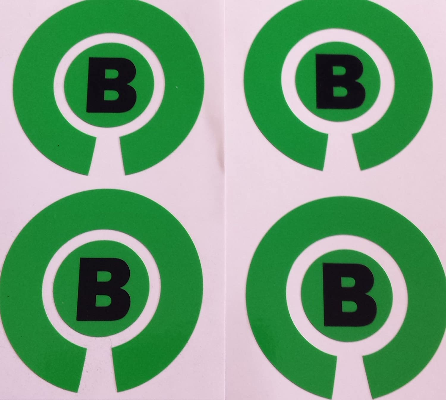 Crown Green Lawn Indoor Bowls Adhesive Lettered Coloured Marker Labels Set of 4 Green, B