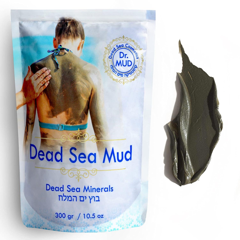 Dr Mud's Dead Sea Mud Mask body from Israel 10.5 oz – Black Clay Body Treatment : Beauty