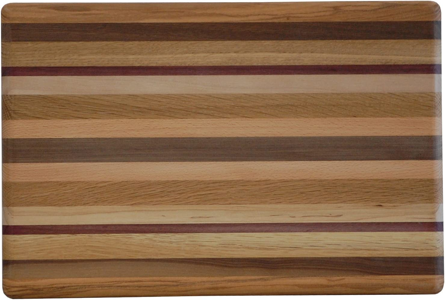 Kitchen Exotic Hard Woods Rectangle Cutting Board Amish Made USA 2 Sizes