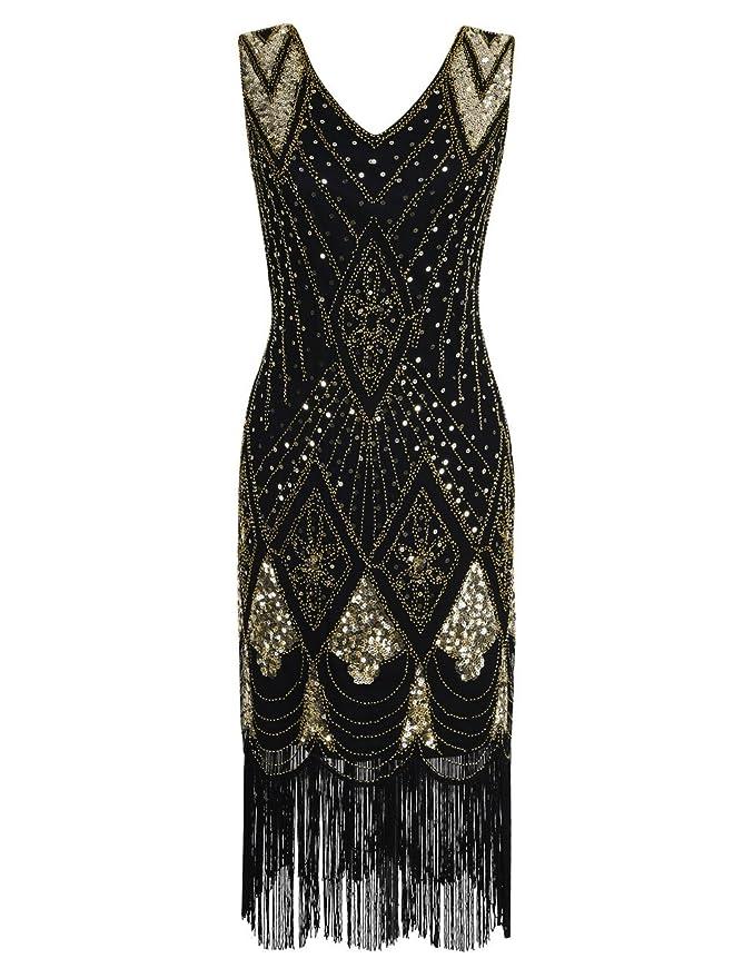 Review PrettyGuide Women 1920s Gatsby Cocktail Sequin Art Deco Flapper Dress
