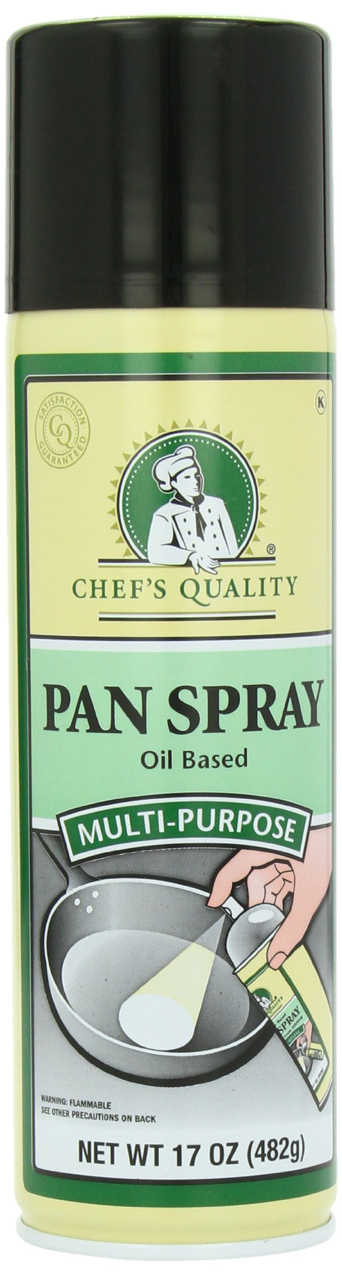 Chef's Quality Multipurpose Oil Pan Spray, 17 Ounce (Pack of 6)