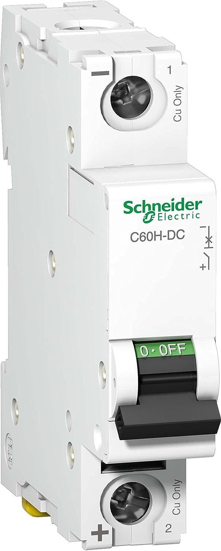Schneider A9N61518 Mcb Miniature Circuit Breaker C60H-DC 1P 50A, White