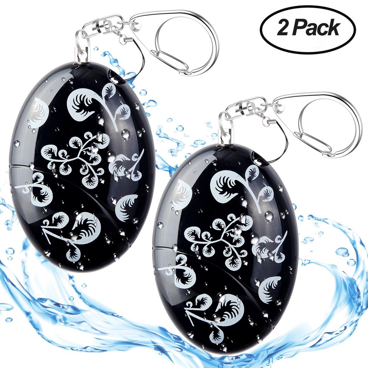 ASTUBIA Personal Alarm Keychain [Water-Proof] 120DB Self-Defense Emergency Sound Siren Safe Song Alarm for Women Kids Elderly Superior Explorer -2 Pack