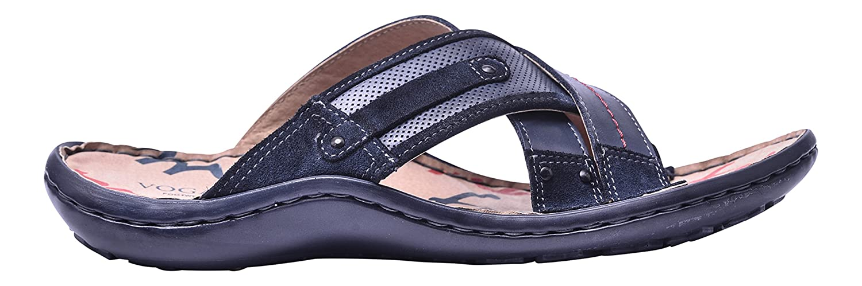 Vogar Calzado Verano Cuero Sandalias Hombre Zapatos Playa VG1135 EU 43 / 29.3 cm|Azul Marino