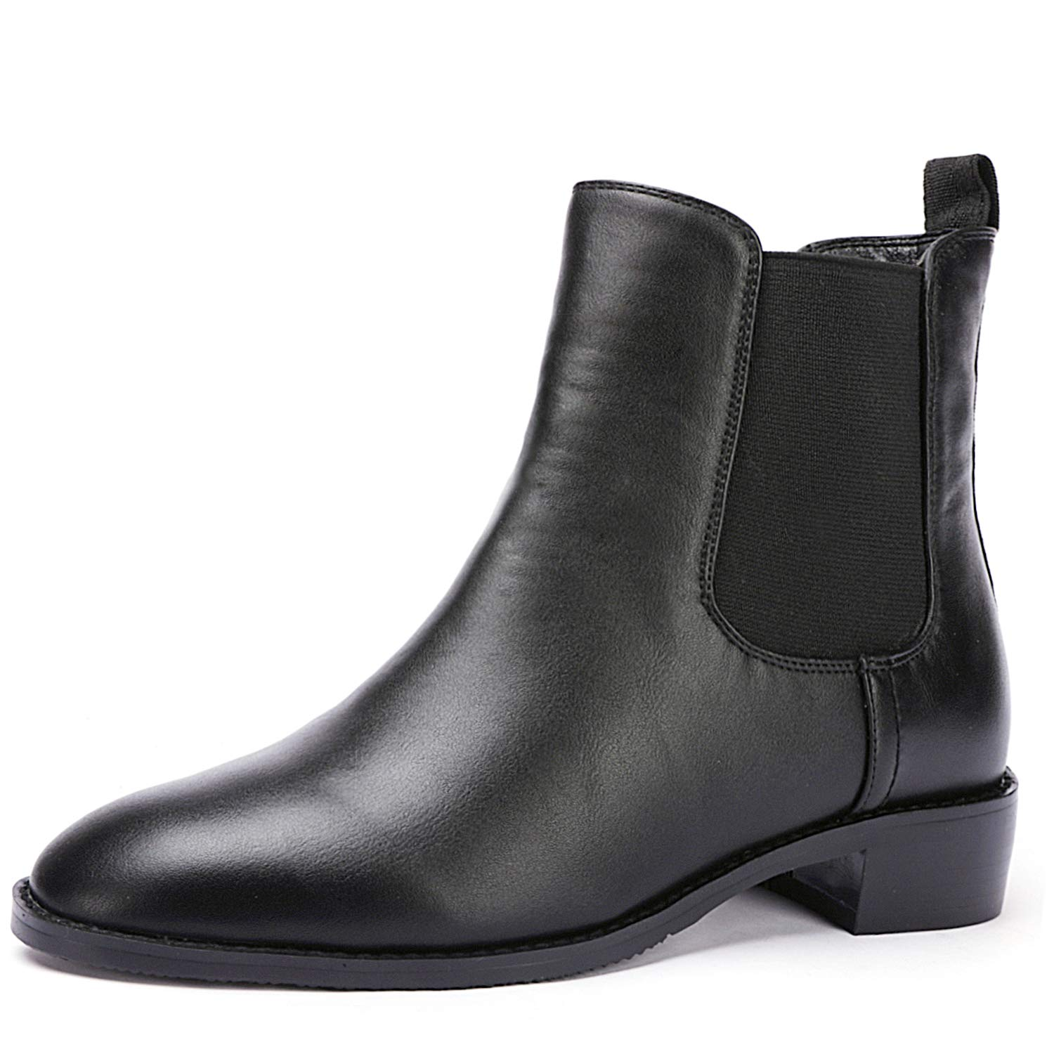 Odema Womens PU Leather Chelsea Boots