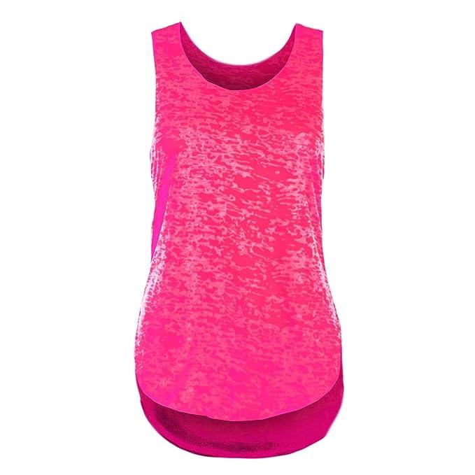 Oops Outlet-Camiseta de Tirantes para Mujer Espalda de Nadador-Camiseta sin Mangas,