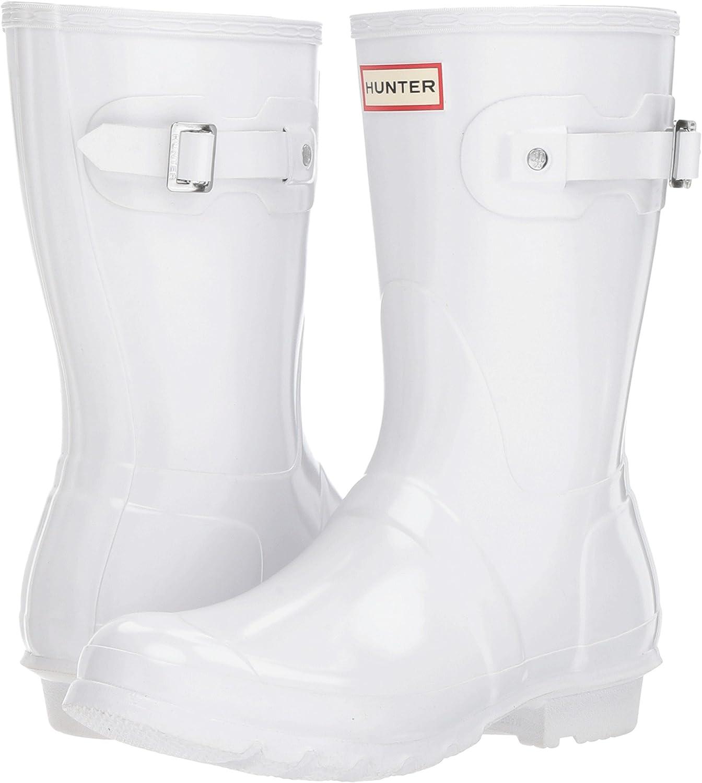 Hunter Women's Original Short Gloss Rain Boots B06VWD4HVT 9 B(M) US|White