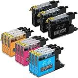 WELPOP Sostituzione per Brother LC1220 LC1240 LC1280 Cartucce d'Inchiostro, 12 Cartucce, Alta Capacità Compatibile con Brother DCP-J525W DCP-J725DW DCP-J925DW MFC-J430W MFC-J435W MFC-J625W MFC-J825DW MFC-J835DW MFC-J6510DW MFC-J6710DW MFC-J6910DW Imprimante