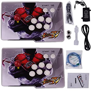 Yang HD Arcade Video Game Console Machine, 1299 Games, 2 Players 2 Single Consoles Pandoras Box 5S Multi Player Home Arcade, 1299 Games All in 1, ...