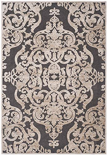 Safavieh Paradise Collection PAR348-3430 Stone and Anthracite Viscose Area Rug 8 x 11 2