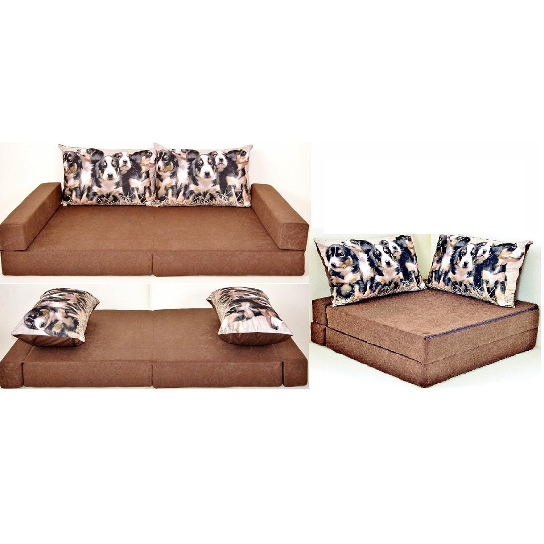 Sofá cama infantil para niños con diseño de colchón cojín del asiento y juego de sofá de mini sofá Set + 2 funda de almohada: Amazon.es: Hogar