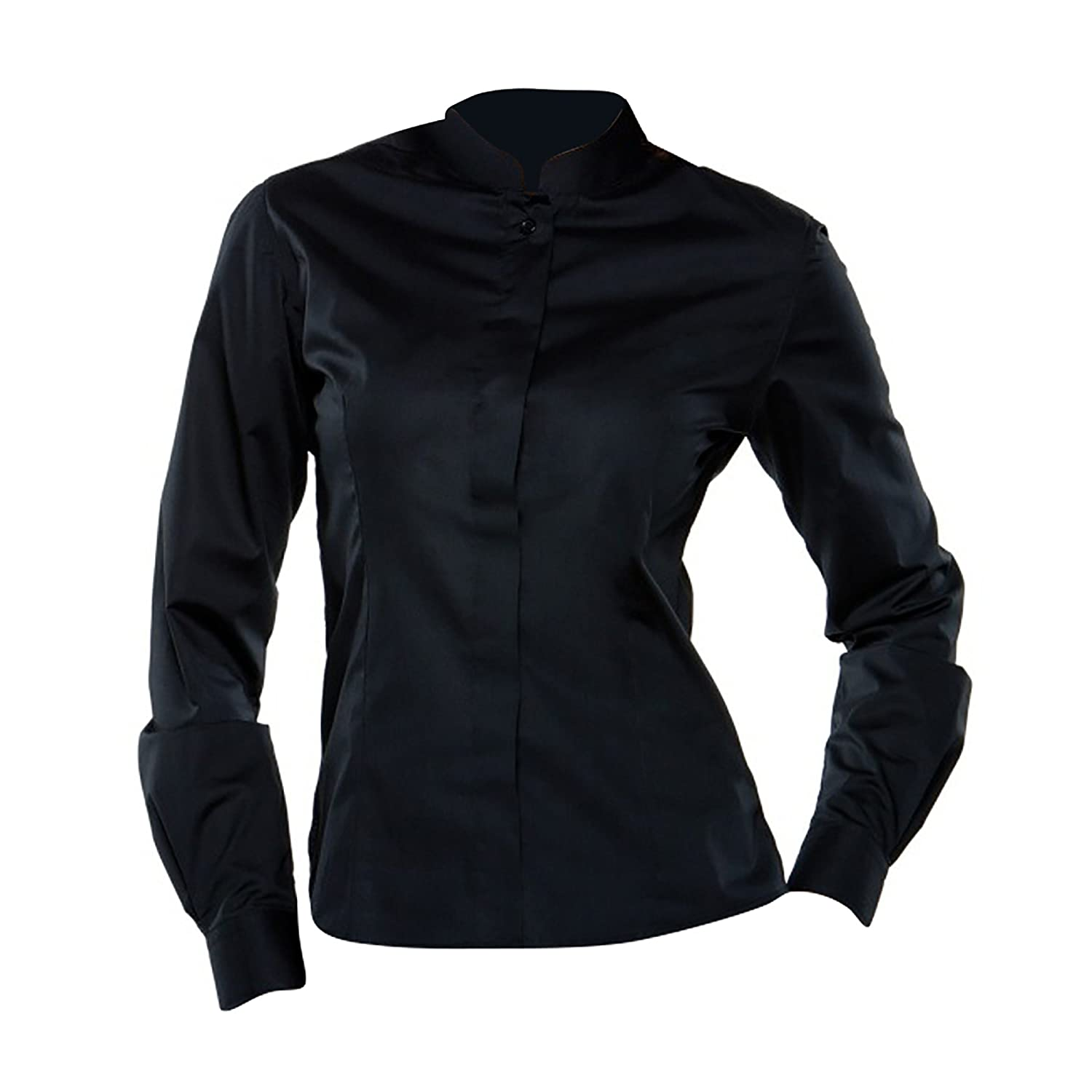 BARGEAR Ladies Long Sleeved Mandarin Collar Bar Shirt