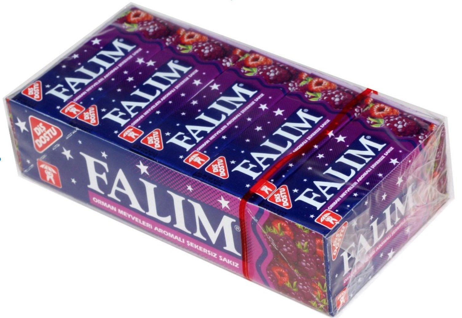 Falim Plain Gum - Forrest Fruits Flavoured- 20 5 = 100 Pieces