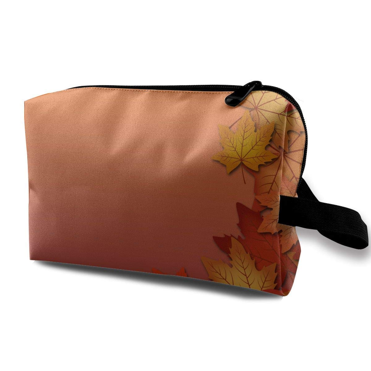 Fall Leave Small Travel Toiletry Bag Super Light Toiletry Organizer for Overnight Trip Bag
