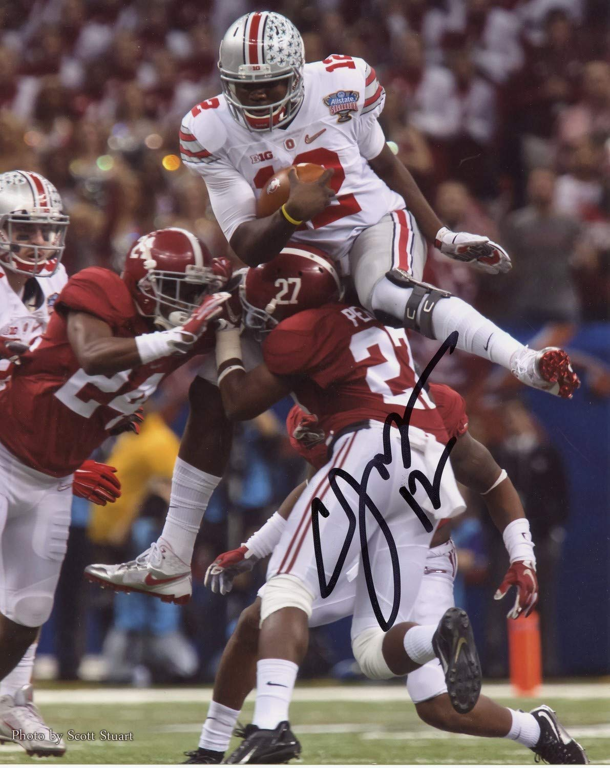 Cardale Jones Ohio State Buckeyes Autographed Signed 8x10 Photo Certified Authentic