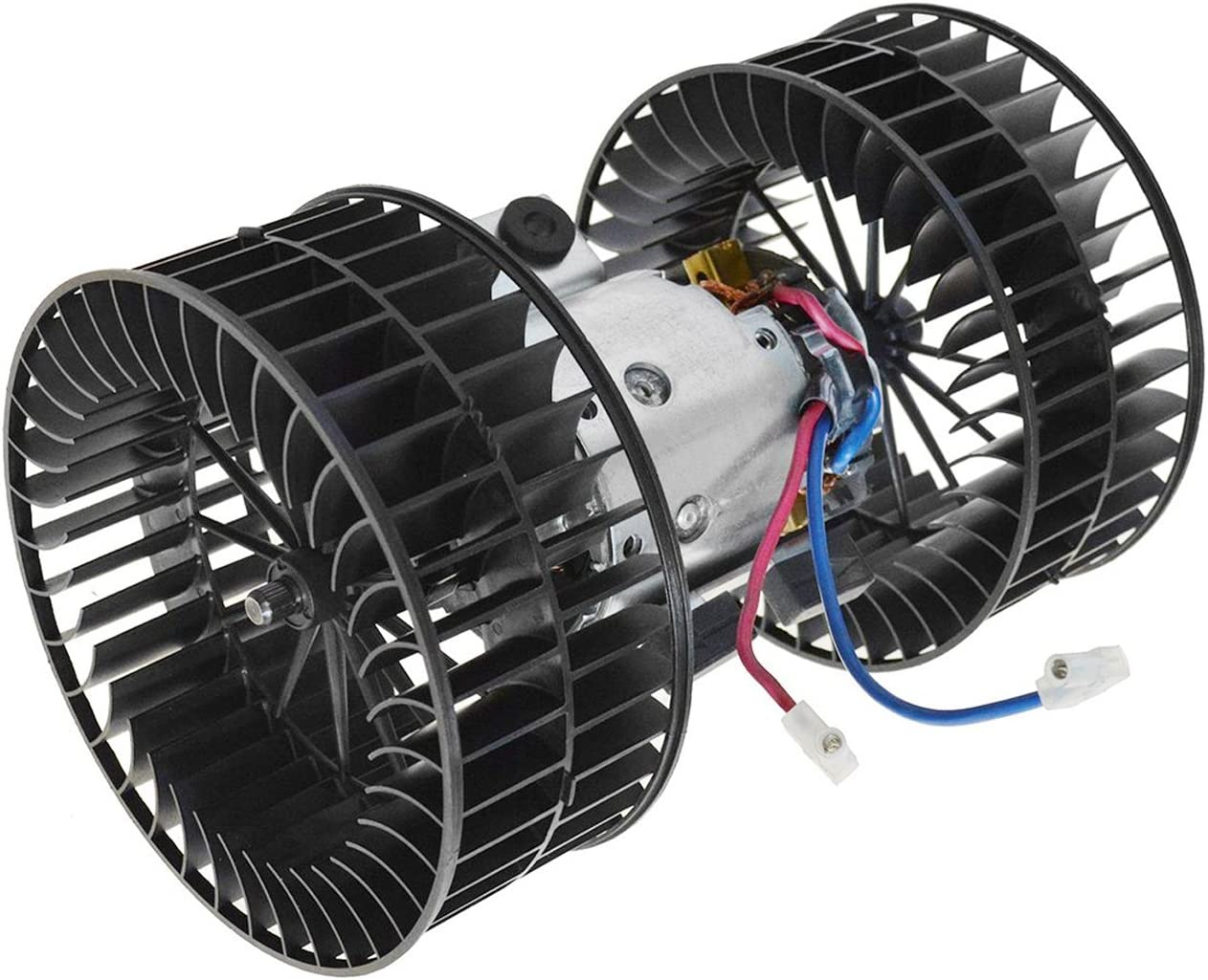 TOPAZ 64118391809 Front Heater Blower Motor with Dual Fan Cage for BMW E38 740i 740iL 750iL 1995-2001