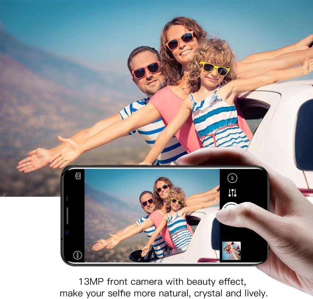 HOMTOM S8 Smartphone de 5,7 Pulgadas,Teléfonos Móviles Libres (Android 7.0, 4GB de RAM, 64GB de ROM, Cámara Doble Trasera de 16MP + 5MP, Carga Rápida),Azul: Amazon.es: Electrónica