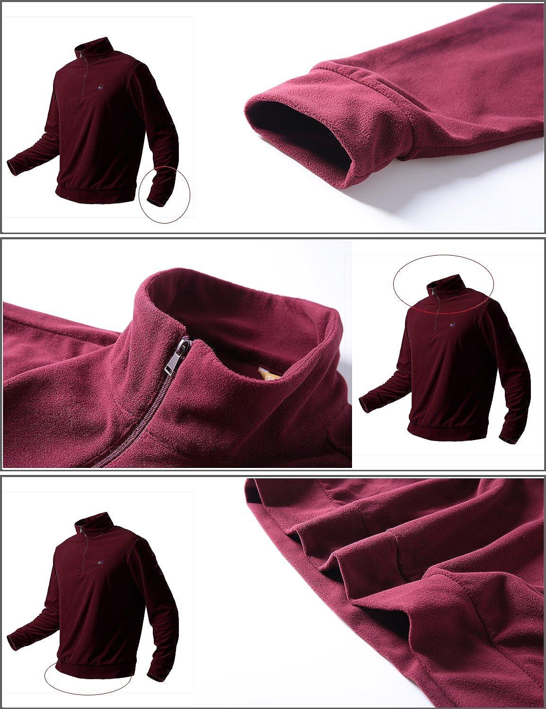 Mr.Stream Mens Half Zip Sweatshirt Outdoor Mountain Lightweight Micro Fleece Camping Hiking Coat Walking Pullover