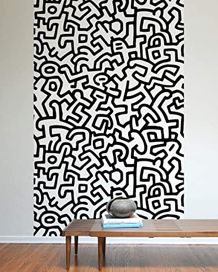 Amazon Com Blik Keith Haring Pattern Wall Tiles Fabric Wall