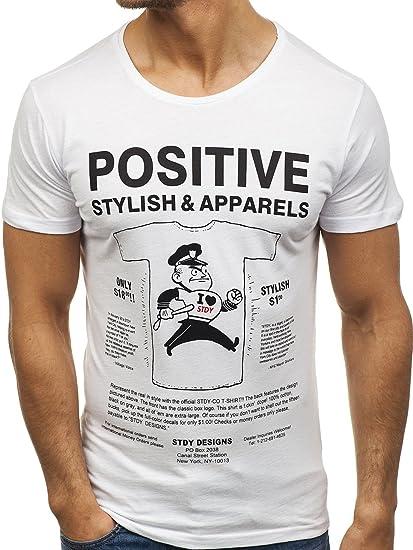 BOLF Hombre Camiseta De Manga Corta by Studio 5349 Blanco XXL [3C3]: Amazon.es: Ropa y accesorios