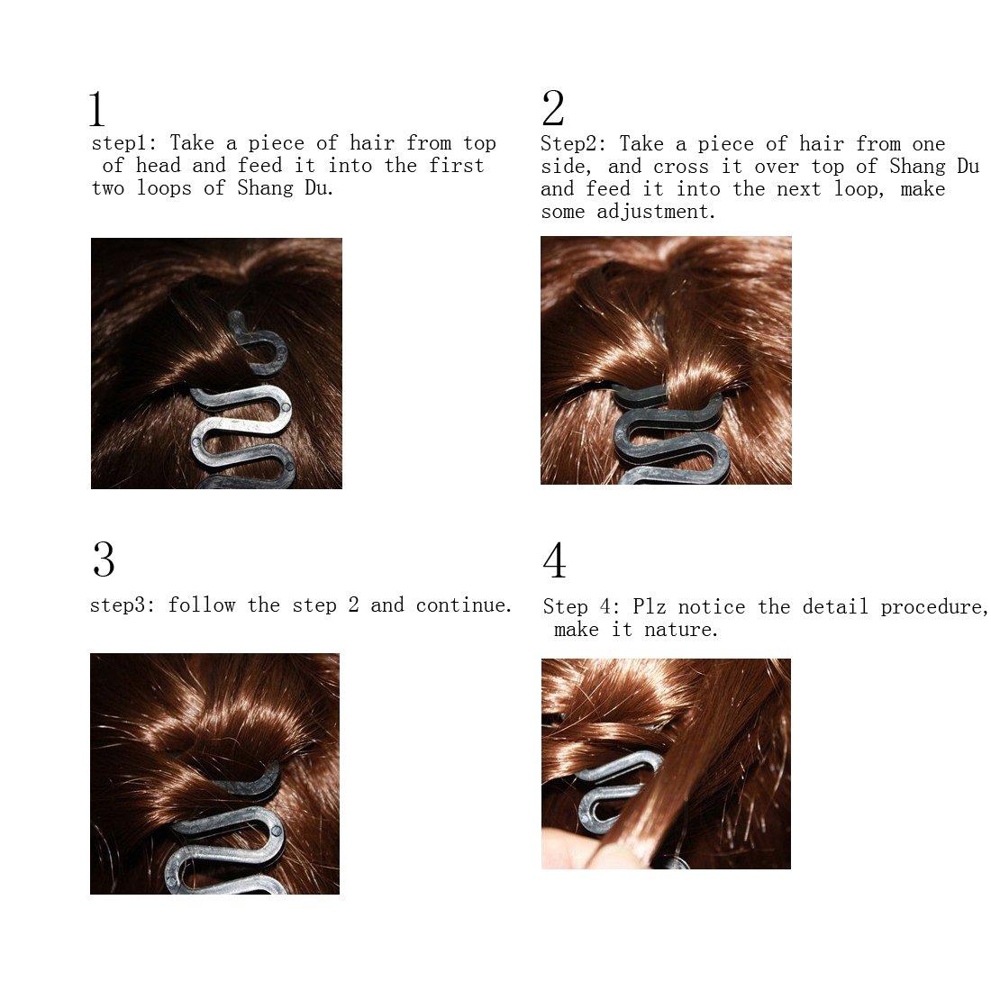 Lke 1pcs Women Fashion Hair Styling Clip Hair Braider Twist Styling