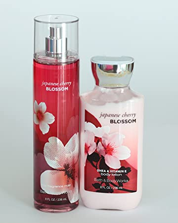 Bath and Body Works Japanese Cherry Blossom Gift Set of Body Lotion and Mist