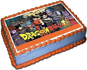 Dragon Ball Z Cake Topper 1/4 8.5 x 11.5 Inches Birthday Cake Topper
